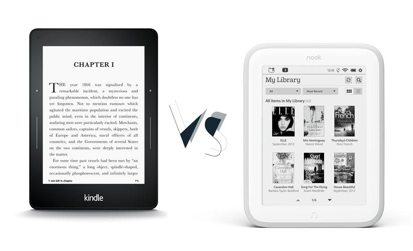 kindle- voyage-vs-nook-glowlight