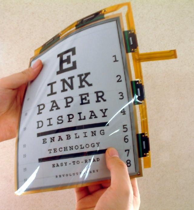 """lgphilips lcd e e ink flex tablet display1 Какво всъщност представлява """"електронното мастило""""?"""