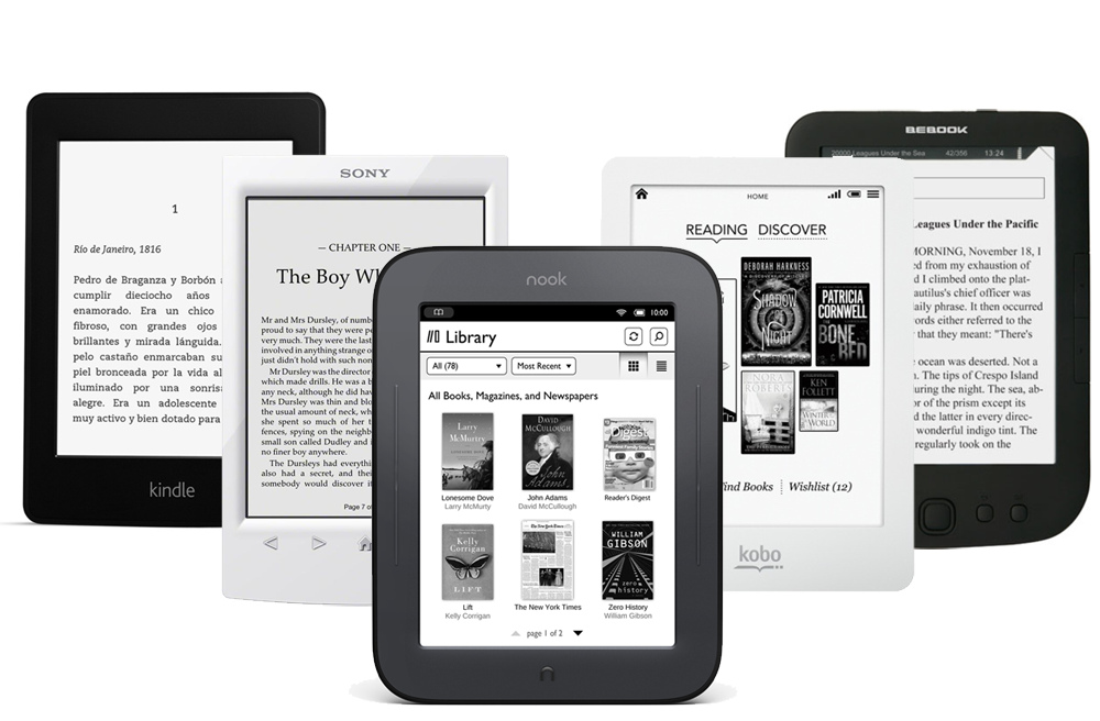 електронна книга електронен четец kindle kobo nook Най големите конкуренти сред производителите на електронни четци